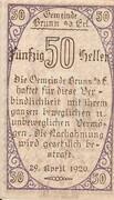 50 Heller (Brunn an der Erlauf) -  obverse