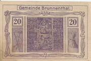 20 Heller (Brunnenthal) – obverse