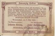 20 Heller (Brunnenthal) – reverse