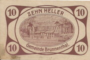 10 Heller (Brunnenthal) – obverse
