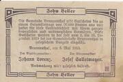 10 Heller (Brunnenthal) – reverse