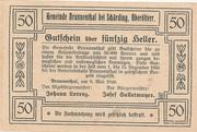 50 Heller (Brunnenthal) – reverse
