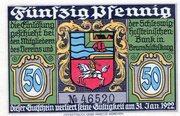 50 Pfennig (Verein für Handel, Gewerbe und Industrie) – obverse