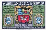 75 Pfennig (Verein für Handel, Gewerbe und Industrie) – obverse