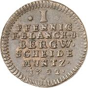1 Pfennig - Ludwig Rudolf – reverse