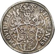 ½ Thaler - Wilhelm VI August – reverse
