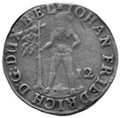 12 Mariengroschen - Johann Friedrich – obverse