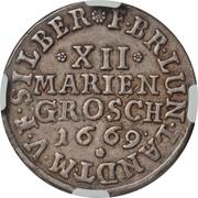 12 Mariengroschen - Johann Friedrich – reverse