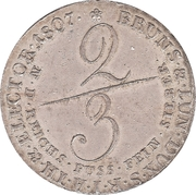 ⅔ Thaler - George III – reverse