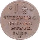 1½ Pfennig - Georg Ludwig – reverse