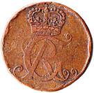 1 Pfennig - George Ludwig – obverse