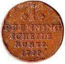 1 Pfennig - George Ludwig – reverse