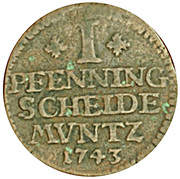 1 Pfenning - George II – reverse