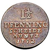 1½ Pfenning - George III – reverse