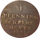 1 Pfenning - Georg III – reverse