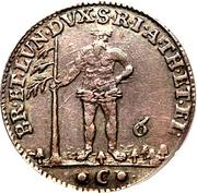 ⅙ Thaler - George II August – reverse