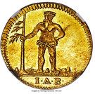 1 Pfenning - George II (Gold pattern strike) – obverse