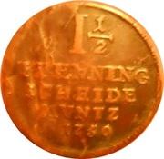 1½ Pfenning - George II – reverse