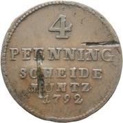 4 Pfenning - George III – reverse