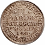 2 Mariengroschen - George II – obverse