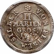 2 Mariengroschen - George I – reverse