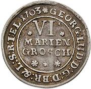 6 Mariengroschen - Georg Ludwig – obverse