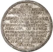 1 Thaler - Georg I. Ludwig (Death of Sophia von der Pfalz) – reverse