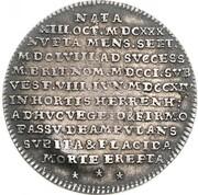¼ Thaler - Georg I. Ludwig (Death of Sophia von der Pfalz) – reverse