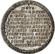 ⅛ Thaler - Georg I. Ludwig (Death of Sophia von der Pfalz) – reverse