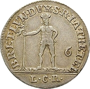 ⅙ Thaler - George III – reverse
