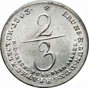⅔ Reichsthaler - George III – reverse