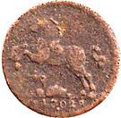 1 Pfennig - Georg Wilhelm II – obverse