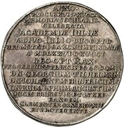 1 Thaler - Georg Wilhelm (100th Anniversary of the University of Helmstedt) – reverse