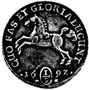 ⅓ Thaler - Georg II Wilhelm – reverse