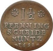 1½ Pfennig - Georg II Wilhelm – reverse