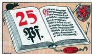 25 Pfennig (Volksbibliothek und Lesestuben) – obverse