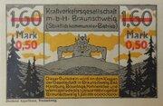 0.50 Mark (Kraftverkehrsgesellschaft, overprint on 1.60 Mark) – obverse