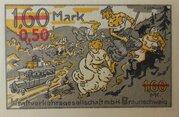 0.50 Mark (Kraftverkehrsgesellschaft, overprint on 1.60 Mark) – reverse