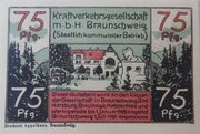 75 Pfennig (Kraftverkehrsgesellschaft) – obverse