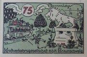 75 Pfennig (Kraftverkehrsgesellschaft) – reverse