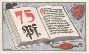 75 Pfennig (Volksbibliothek und Lesestuben) – obverse