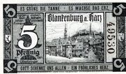 5 Pfennig (Blankenburg am Harz) – obverse