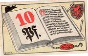 10 Pfennig (Brunswick; Volksbibliothek und Lesestuben) – obverse