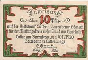 10 Pfennig (Lutter am Barenberge; Volksbank) – obverse