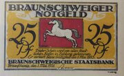 25 Pfennig (Braunschweigische Staatsbank) – obverse