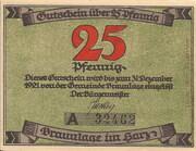 25 Pfennig (Braunlage) – obverse
