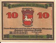 10 Pfennig (Braunlage) – obverse