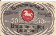 50 Pfennig (Braunschweigische Staatsbank) – obverse