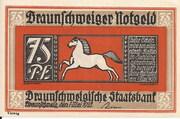 75 Pfennig (Braunschweigische Staatsbank) – obverse