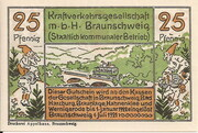 25 Pfennig (Braunschweig; Kraftverkehrsgesellschaft) – obverse